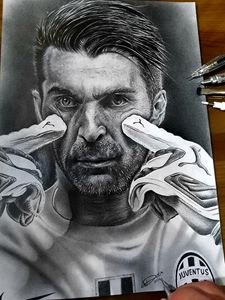 Buffon Portrait Juventus - Juventus Players Portraits