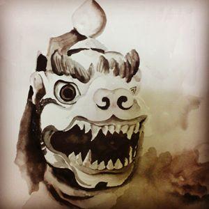 snow lion mask
