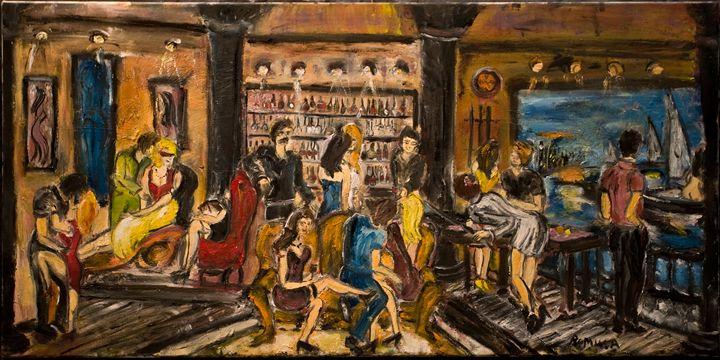 """The Purple Pool Table"" - Romula Art Gallery"