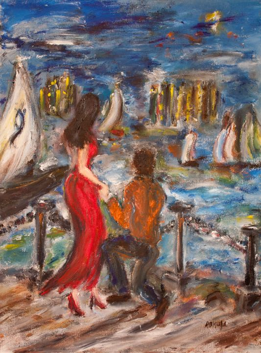 """The Couple"" - Romula Art Gallery"