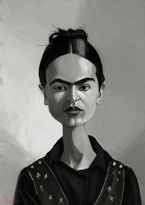 Frida Kahlo - Caricatures by Roussos
