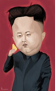 Kim yong-jun caricature - Caricatures by Roussos