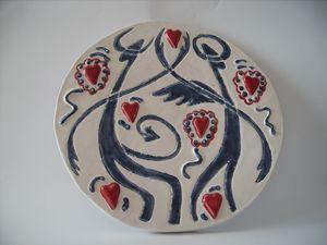 Angel And Devil Dance ceramic plate