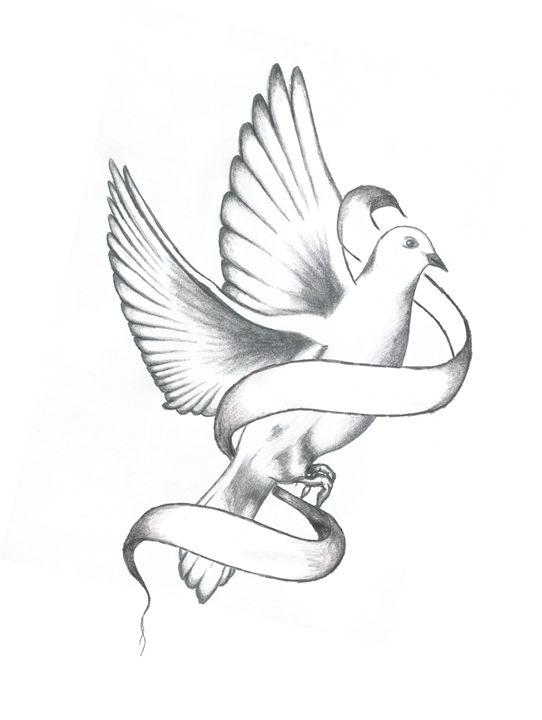 Dove With Banner - William Roslund