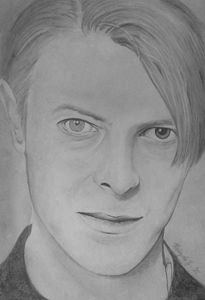 David Bowie - Portraits, pencil