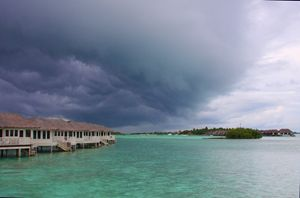 Thunderstorm in the Maldives