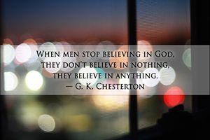When Men Stop Believing