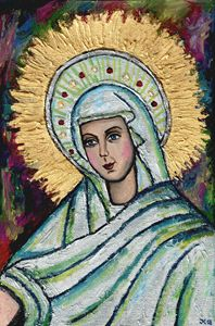 Beautiful icon of the Virgin Mary