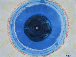 The eye of the unnamed planet