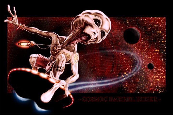 Cosmic Barrel Rider - The Art of Erik Stitt