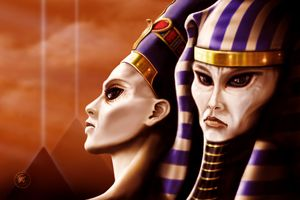 Nefertiti and Akhenaten - The Art of Erik Stitt