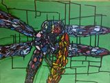 18X24 Painting Dragonfly