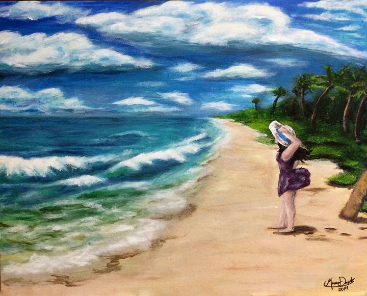 On the beach - Marissa Danylik
