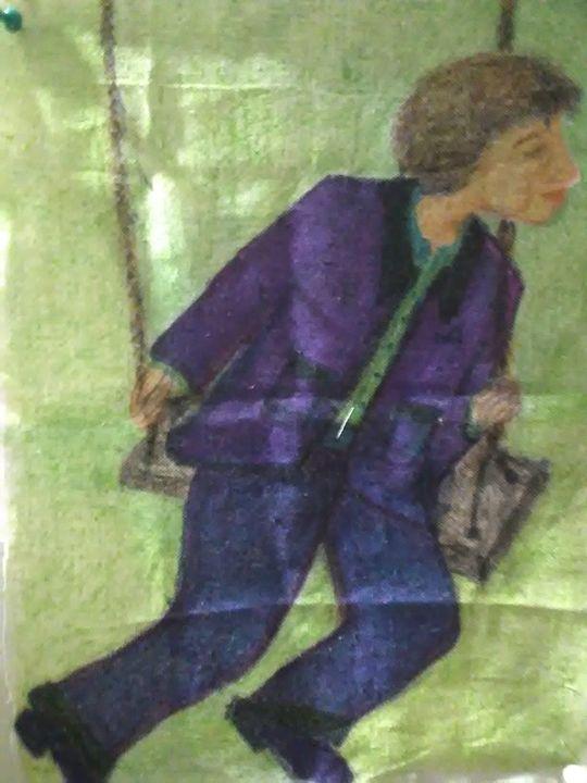 Boy swinging - Boni