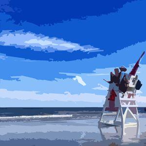 Beach Lifeguard - Wildwood Boardwalk Art
