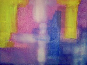 Abstract Splash of Yellow