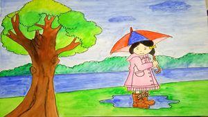 LOVABLE GIRL INTO RAIN