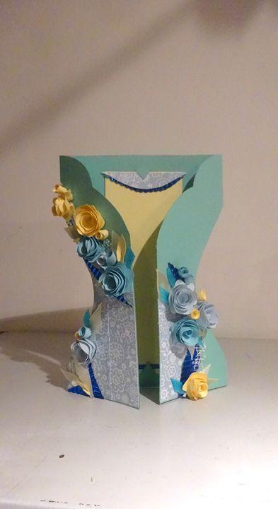 Summer dress greeting card - Kartessa Rosa