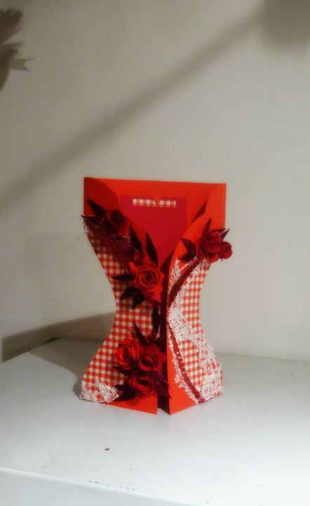 Woman in red dress card - Kartessa Rosa