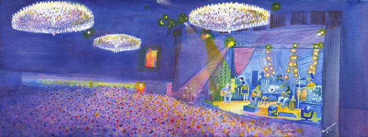 Widespread Panic, Fillmore, Denver - Paintings of Live Shows