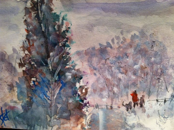 Winter Walk - Webster original art