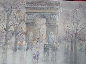 Rainy Arc de Triomphe