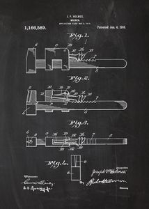 1916 Wrench Patent Drawing