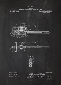 1915 Wrench Patent Drawing