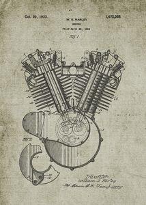 1919 Harley V-Engine