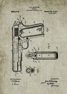 1910 Firearm - Patent Drawing