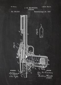 1897 - Firearm - Patent Drawing