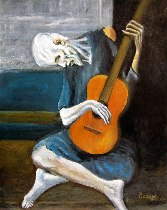 Picasso's Old Guitarist - Leonardo Ruggieri Fine Art Paintings