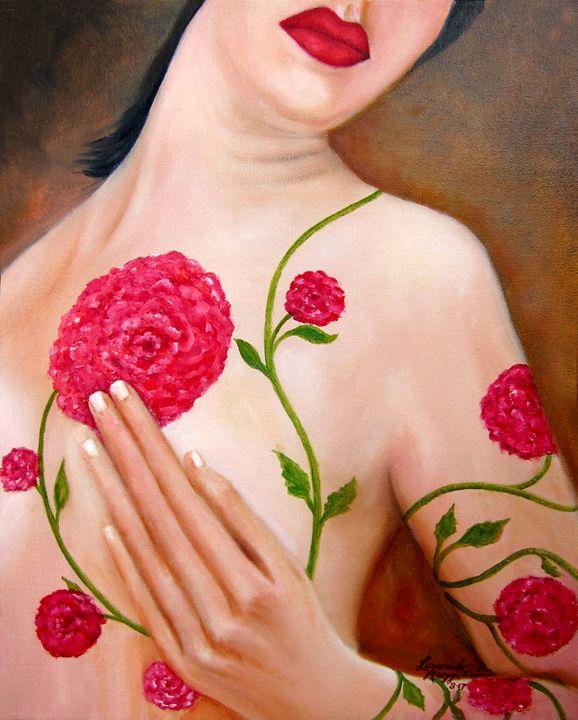 Floral Beauty - Leonardo Ruggieri Fine Art Paintings