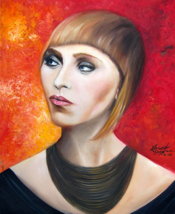 A Portrait of Brianne - Leonardo Ruggieri Fine Art Paintings
