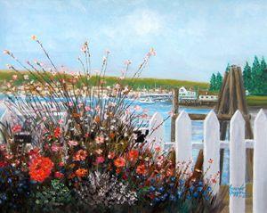 Booth Bay Harbor, Maine - Leonardo Ruggieri Fine Art Paintings
