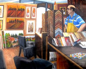 Waiting for Customers - Leonardo Ruggieri Fine Art Paintings