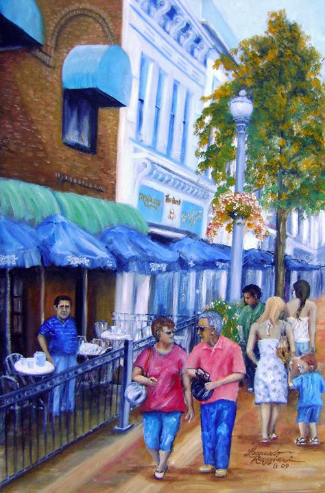 Broad Street Red Bank, NJ - Leonardo Ruggieri Fine Art Paintings