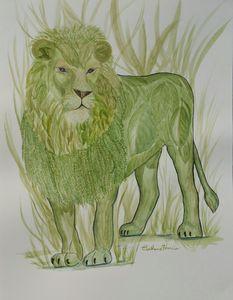 Botanical Lion