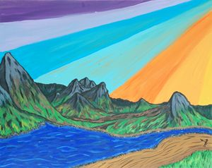Colorful Sunset Scene