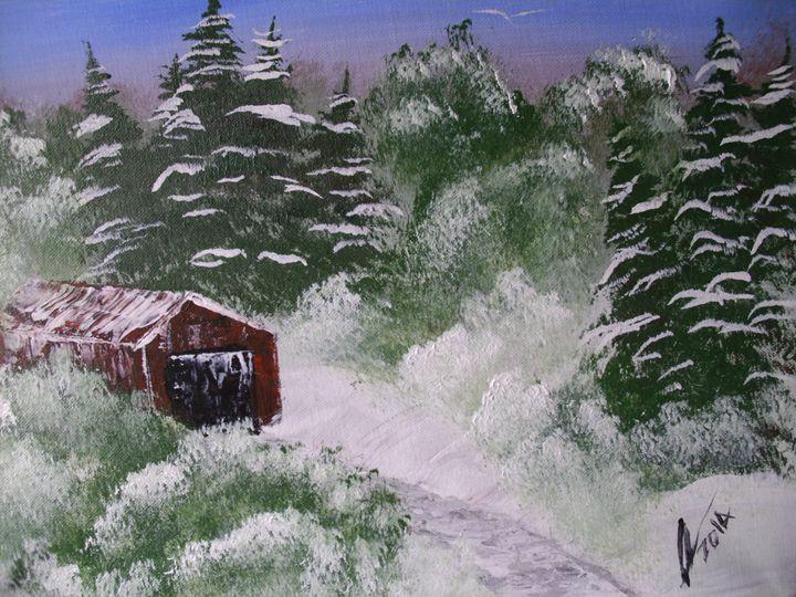 Snow Barn - Kelvin's Art Studio