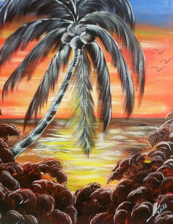 Caribbean sunset - Kelvin's Art Studio