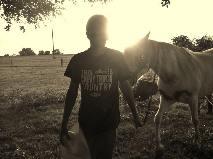 """Cowboy """"Sunset"""" - Free Spirit Art"""