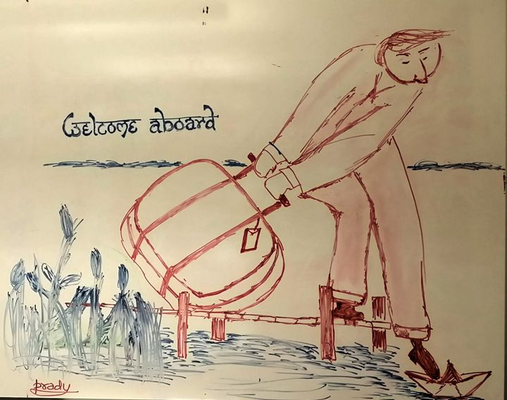 Welcome aborad - WhiteBoard Sketches and Photography