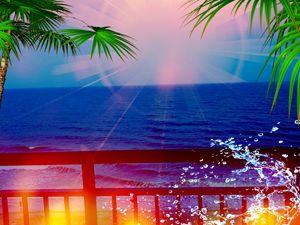 Ocean Blue In Light - art by dawn