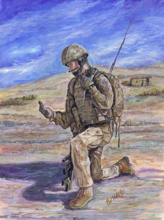 British Soldier Helmand Afghanistan - Phil Willetts