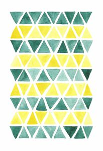 Green and Yellow Triangle Mosaic