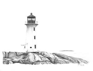 Lighthouse of Peggy's Cove
