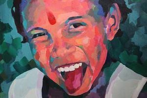 Indian child, detail