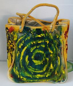 Original Abstract Art Canvas Bag