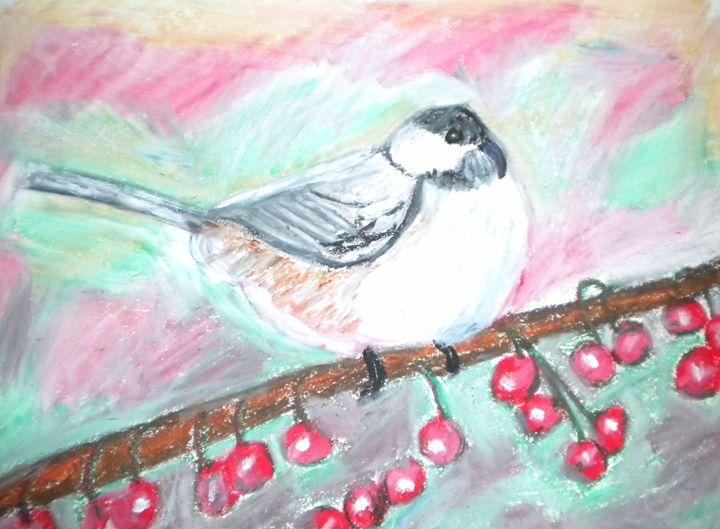 Bird Outsdie My Window - VickiJane Paintings